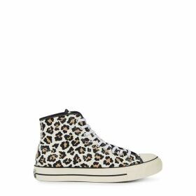 Converse Lucky Star Leopard-print Hi-top Sneakers