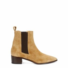 AEYDE Lou 40 Sand Suede Chelsea Boots