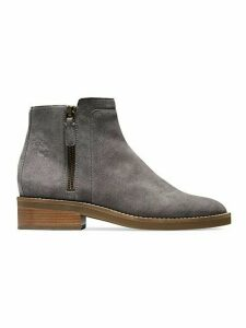 Rene Side-Zip Suede Booties