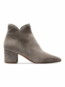 Elyse Suede Point-Toe Booties