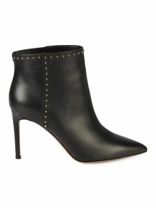 Studded Leather Stiletto Booties