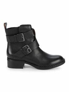 Benton Leather Moto Booties
