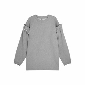 Mother Of Pearl Darby Faux Pearl-embellished Cotton Sweatshirt
