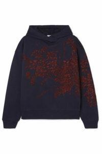 Dries Van Noten - Harlee Embroidered Cotton-jersey Hoodie - Navy