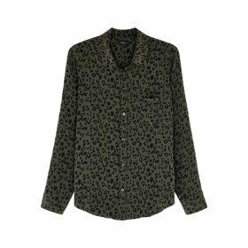 Rails Kate Cheetah-print Silk Shirt