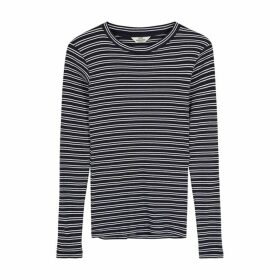 Mads Nørgaard Tuba Striped Cotton Top