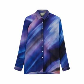 AWAYTOMARS X Woolmark Printed Fine-knit Wool Shirt