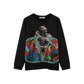 Valentino X Undercover Black Cotton-blend Sweatshirt