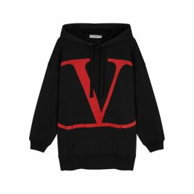 Valentino Hooded Logo-print Cotton-blend Sweatshirt
