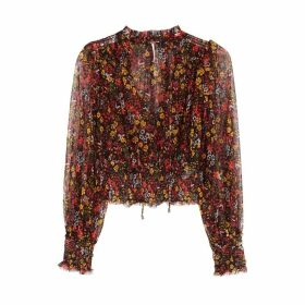 Free People Twyla Floral-print Mesh Top