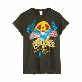 MadeWorn Aerosmith Permanent Vacation Printed Cotton T-shirt