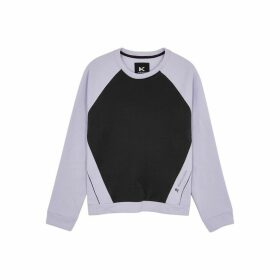 Koral Activewear Lilac And Black Cotton-blend Sweatshirt
