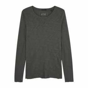 ATM Anthony Thomas Melillo Grey Slubbed Cotton Top