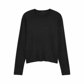 ATM Anthony Thomas Melillo Charcoal Ribbed Jersey Top