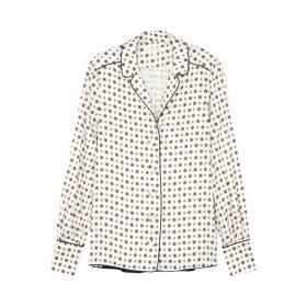 Jonathan Simkhai White Printed Satin Shirt
