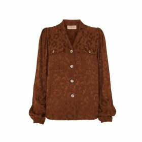 Kitri Faye Animal Jacquard Blouse
