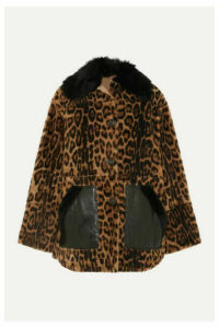 Yves Salomon - Leather-trimmed Leopard-print Shearling Coat - Leopard print