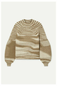 Ulla Johnson - Lucille Striped Ribbed Alpaca-blend Sweater - Camel