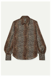 Equipment - Didina Leopard-print Georgette Shirt - Brown