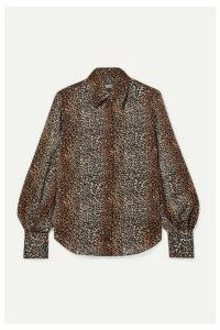 EQUIPMENT - Didina Leopard-print Georgette Shirt - Brown