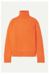 REMAIN Birger Christensen - Jerome Ribbed Wool And Cashmere-blend Turtleneck Sweater - Orange