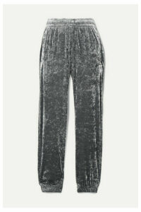 BLOUSE - Sleepy Boy Crushed-velvet Track Pants - Silver