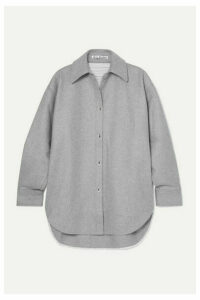 Acne Studios - Sarwin Oversized Wool-blend Flannel Shirt - Gray