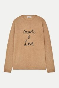 Bella Freud - Deserts Of Love Cashmere-blend Sweater - Sand