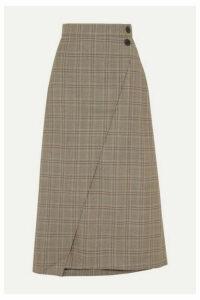 Cefinn - Layla Prince Of Wales Checked Woven Midi Skirt - Brown