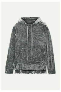 BLOUSE - Sleepy Boy Crushed-velvet Hoodie - Gray