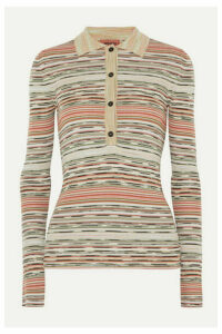 Missoni - Striped Ribbed Crochet-knit Wool Sweater - Light green