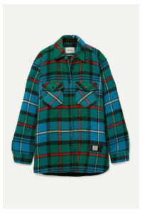 we11done - Checked Wool Shirt - Green