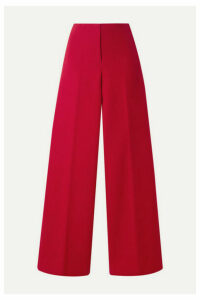 Theory - Cotton-twill Wide-leg Pants - Red