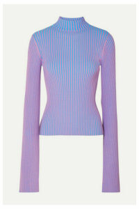 Solace London - Dania Ribbed-knit Sweater - Purple