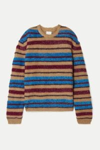 Ashish - Oversized Metallic Striped Knitted Sweater - Blue