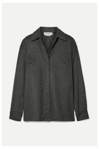 Gabriela Hearst - Cruz Brushed-cashmere Shirt - Dark gray