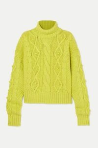 GAUGE81 - Nazca Cable-knit Merino Wool And Alpaca-blend Sweater - Lime green