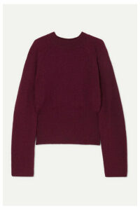 Nanushka - Arden Ribbed-knit Sweater - Plum