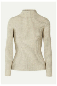 Mansur Gavriel - Ribbed Alpaca And Silk-blend Turtleneck Sweater - Beige