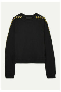 Haider Ackermann - Metallic Embroidered Stretch-cotton Jersey Sweatshirt - Black