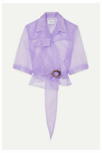 Nanushka - Dalas Organza Wrap Shirt - Lilac