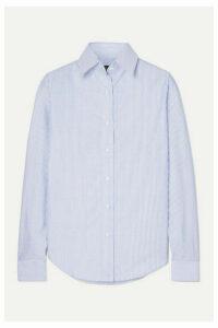 Emma Willis - Striped Cotton Oxford Shirt - Navy