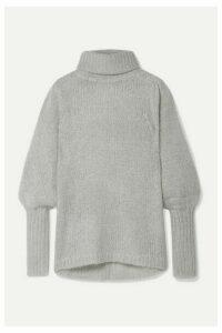 APIECE APART - Valencia Open-knit Turtleneck Sweater - Gray