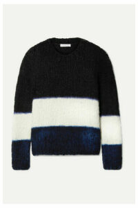 Gabriela Hearst - +net Sustain Lawrence Striped Cashmere Sweater - Midnight blue