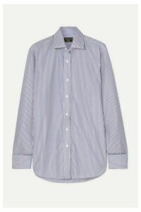 Emma Willis - Striped Cotton-poplin Shirt - Navy