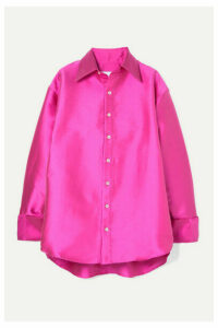 Matthew Adams Dolan - Oversized Satin Shirt - Fuchsia