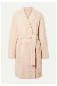 Yves Salomon - Reversible Shearling Coat - Blush