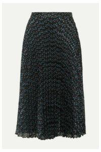 Paul & Joe - Ksolare Pleated Metallic Floral-print Chiffon-jacquard Skirt - Black