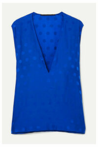 Haider Ackermann - Brady Polka-dot Satin-jacquard Top - Blue