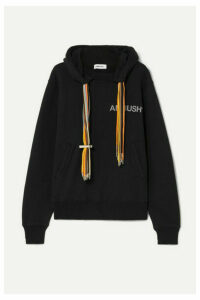 AMBUSH® - Printed Cotton-jersey Hoodie - Black